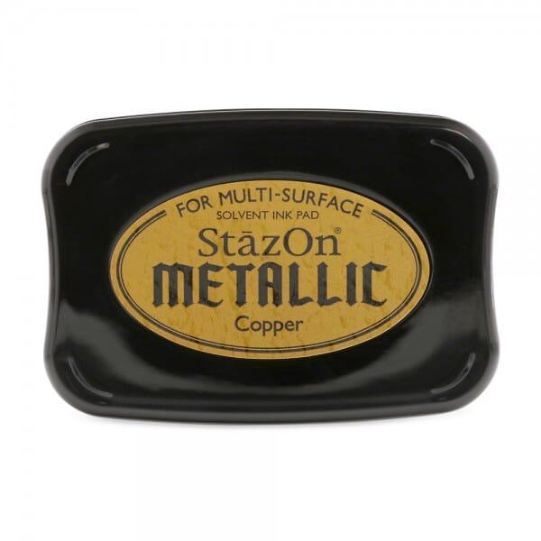 Tsukineko - Metallic Copper Stazon Stempelkissen (7.5 x 4.5 cm)