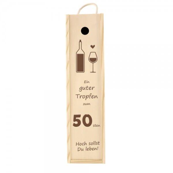 Weinkiste/Geschenkkiste zum 50. Geburtstag