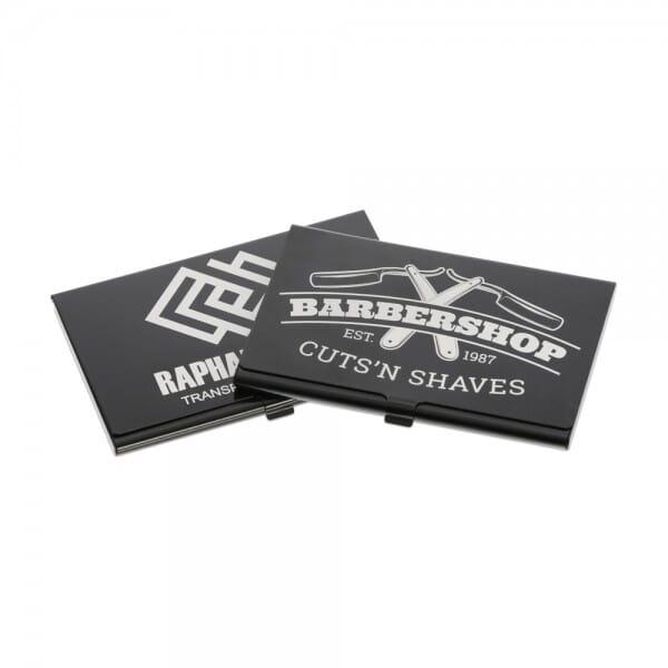 Lasergraviertes Visitenkarten-Etui aus Aluminium (Gravurmaß 90x50 mm)