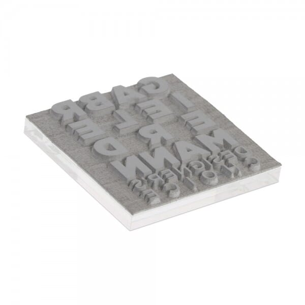 Textplatte für Colop Pocket Stamp Q 25 (25x25 mm - 4 Zeilen)