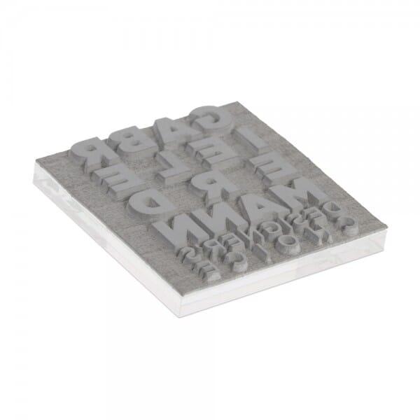 Textplatte für Colop Pocket Stamp Q 25 (25x25 mm - 4 Zeilen) bei Stempel-Fabrik