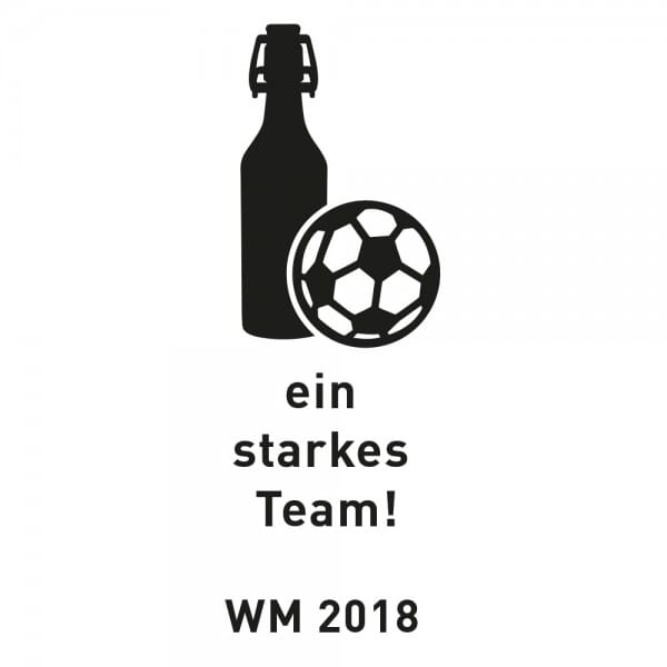 Fussball WM 2018 - Aluminium Flaschenöffner