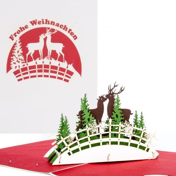 Colognecards Pop-Up Karte Weihnachten Rentiere