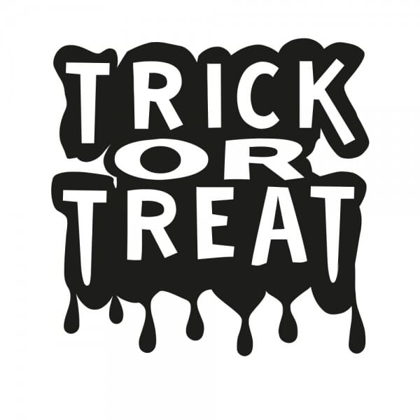 Halloween Holzstempel - Trick or Treat (50x50 mm)