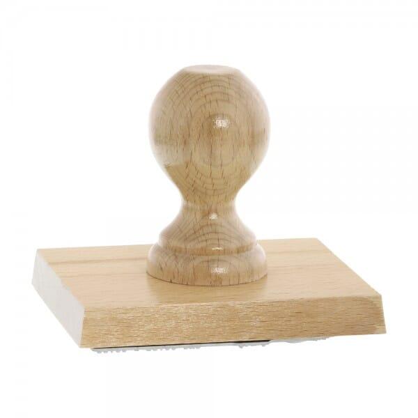Holzstempel (120x100 mm - 20 Zeilen)