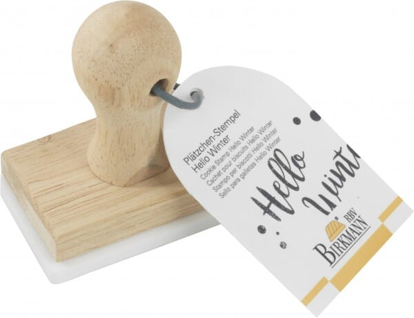 AKTION - Birkmann Keksstempel mit Hello Winter Motiv (75x47 mm)