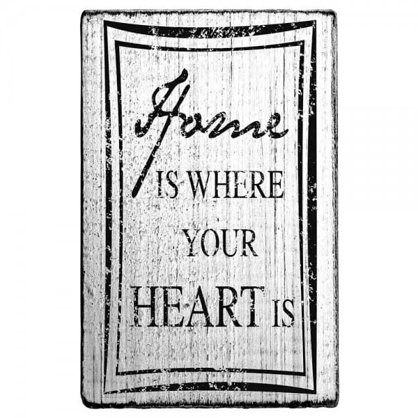 "Vintage Stempel ""Home is where your heart is"""
