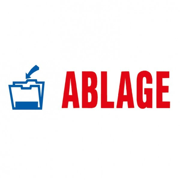 "AKTION - Trodat Office Printy Textstempel ""Ablage"" 4912 (47x18 mm)"