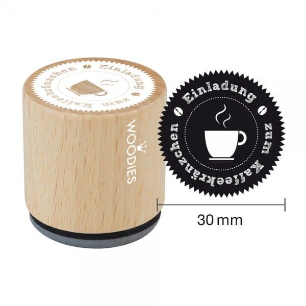 Woodies Stempel - Einladung zum Kaffeekränzchen