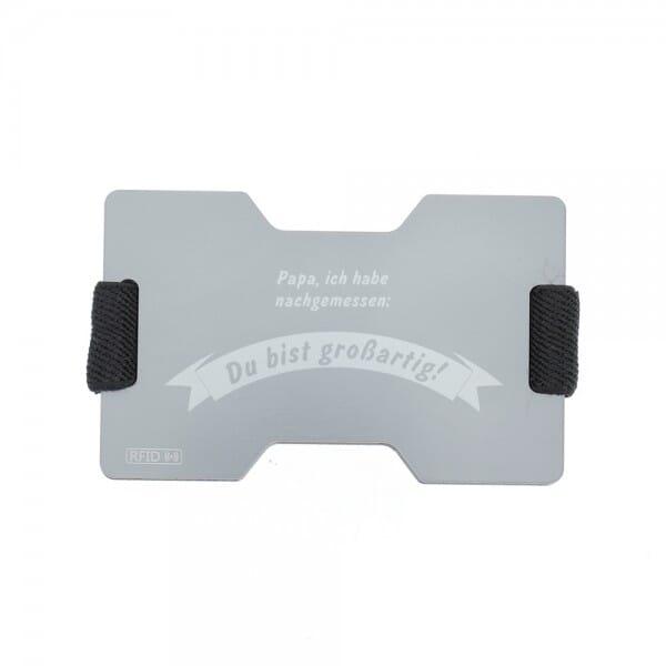 """RFID Kartenhalter aus Aluminium """"Vatertag"""""""