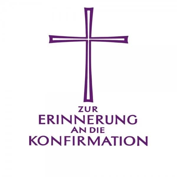 Geburt-Taufe und Kirche Holzstempel - Konfirmation (40x30 mm)