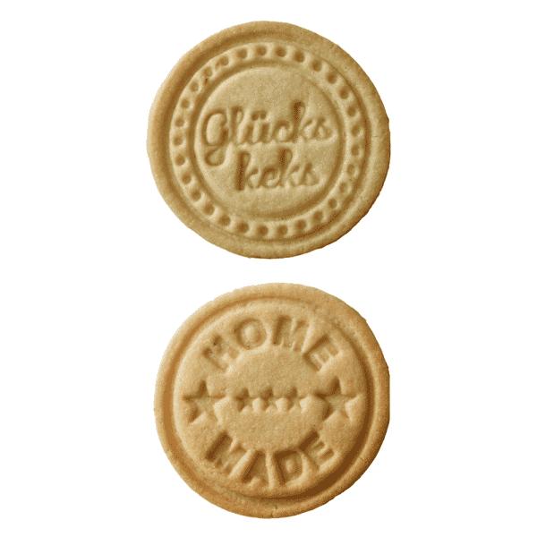 Stempelscheiben Set für Keksstempel - Homemade und Glückskeks (Ø70 mm)