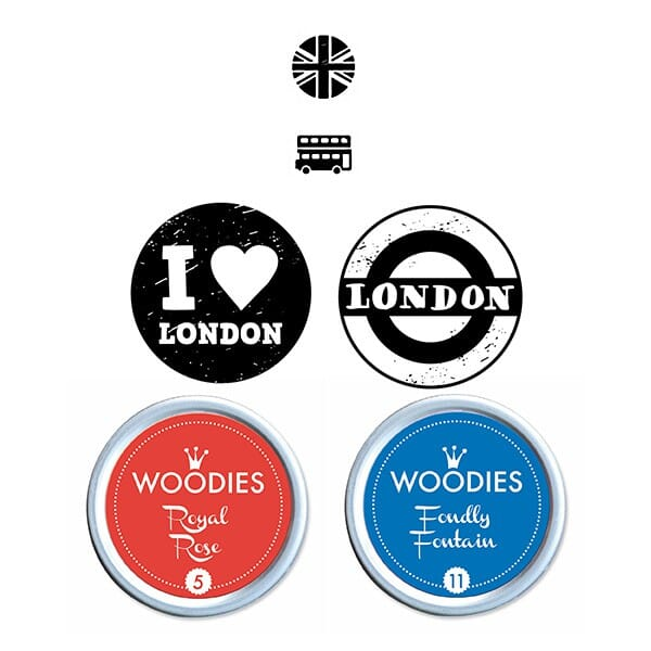 Woodies Stempel SET - London WS0013