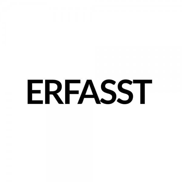 Holzstempel ERFASST (40x10 mm - 1 Zeile) bei Stempel-Fabrik