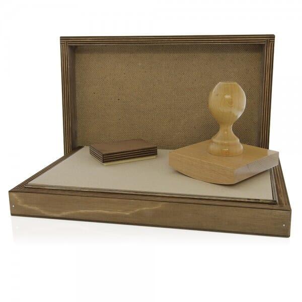 Signier-Stempelkissen aus Holz Nr. 4 (341 x 141 mm)