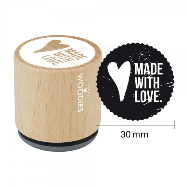 Woodies Stempel - Made with love