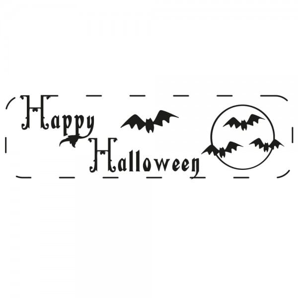 Halloween Holzstempel - Fledermaus (70x20 mm)