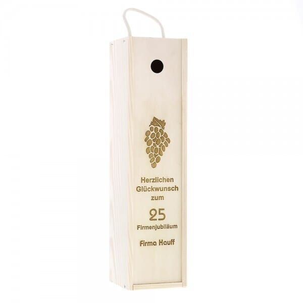 Weinkiste/Geschenkkiste (Gravurmaß 30x7 cm)
