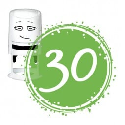 NIO Stempelmotiv - birthday 30-badge