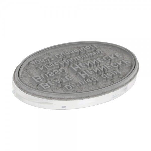 Textplatte für Colop Pocket Stamp oval 30 (47x18 mm - 4 Zeilen)