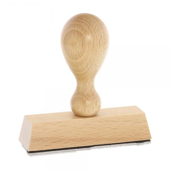 Holzstempel (70x20 mm - 4 Zeilen)