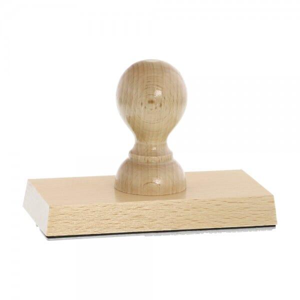 Holzstempel (120x60 mm - 12 Zeilen)