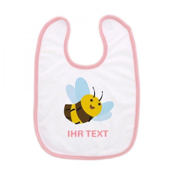 """Babylätzchen mit Klettverschluss """"Biene"""" inkl. individueller Druck"""