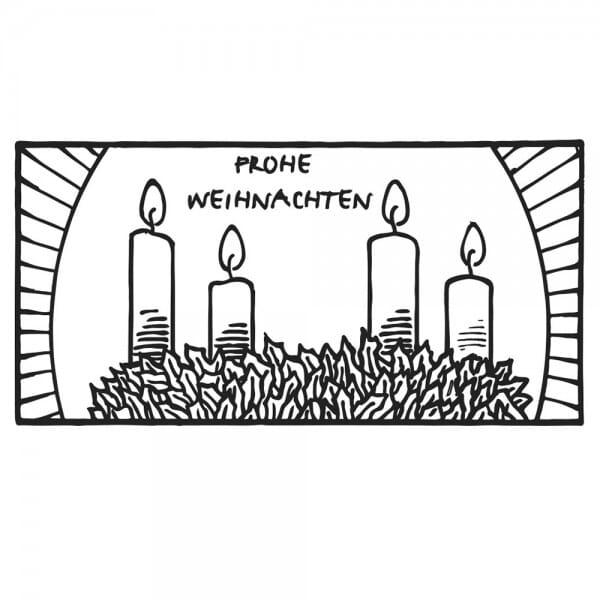 Weihnachten Holzstempel - Kerzen (60x30 mm)