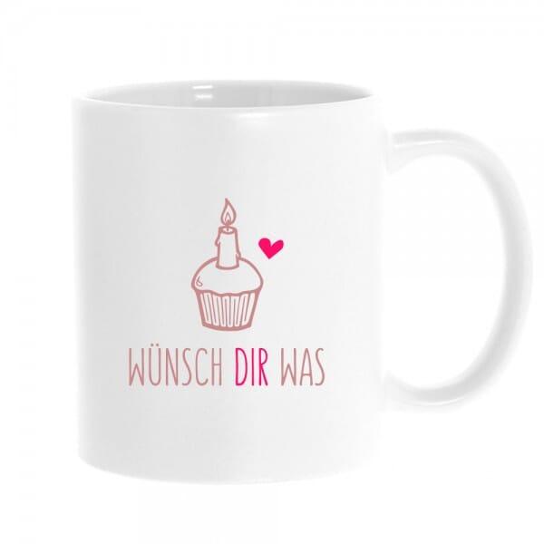 """Keramiktasse """"Wünsch Dir was"""""""