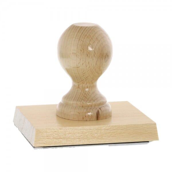 Holzstempel (110x90 mm - 18 Zeilen)