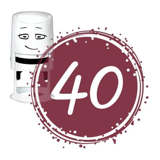 NIO Stempelmotiv - birthday 40-badge