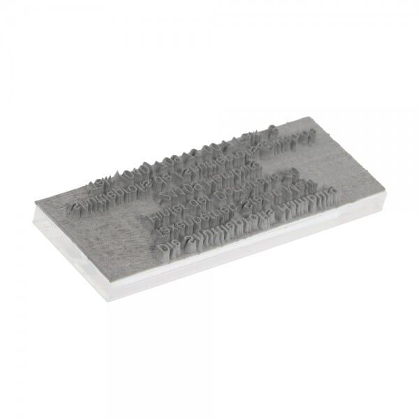 Ersatztextplatte für Kugelschreiberstempel (3-zeilig - 33x8 mm) bei Stempel-Fabrik
