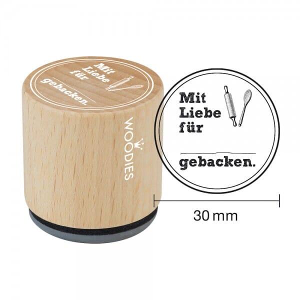 Woodies Stempel - Mit Liebe für ... gebacken