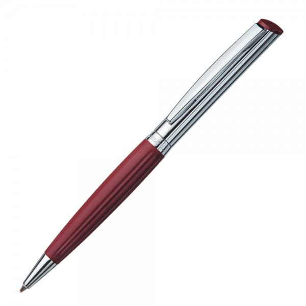 Heri Diagonal Wave 6261 Kugelschreiberstempel Bordeaux/Silber (33x8 mm - 3 Zeilen)