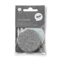 NIO Konfetti Mint/Silber (ø 50 mm - 2x15 Stück)