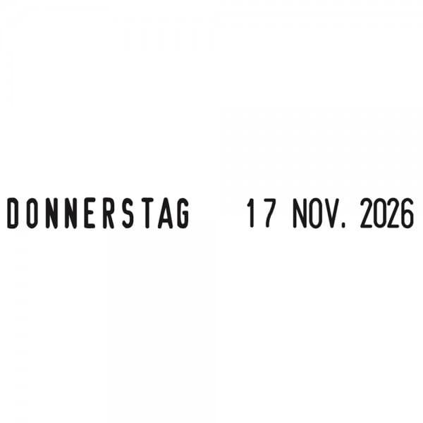 AKTION - Trodat Printy 4817/B (4812) Dater und Wochentagen( 25x3,8 mm)