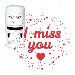 NIO Stempelmotiv - i miss you-heart in space
