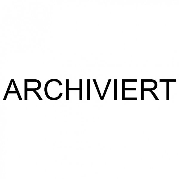 """Dormy Imprint 11 Lagertext """"Archiviert"""" (37x14 mm - 1 Zeile)"""