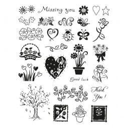 SALE - Clearstempel - Set Blumen