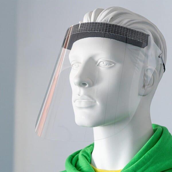 10 Stück Ultraleicht Gesichtsschutz Visier PET hochtransparent