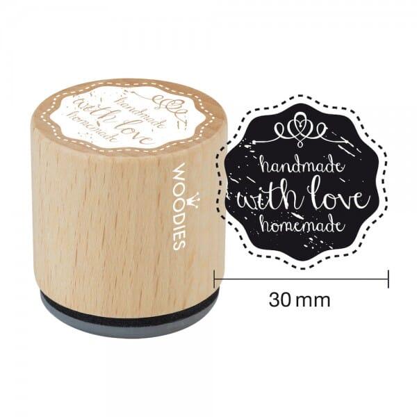 Woodies Stempel - Handmade with Love
