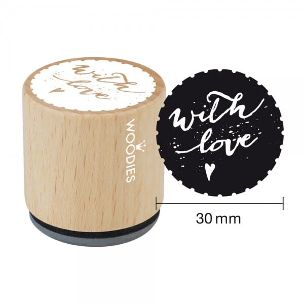 Woodies Stempel - With love Motiv 1 bei Stempel-Fabrik
