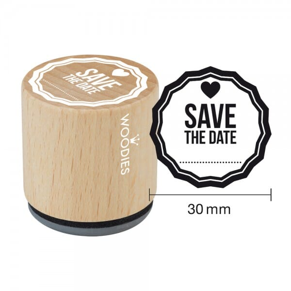 Woodies Stempel - Save the Date Motiv 2 bei Stempel-Fabrik
