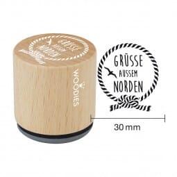 Woodies Stempel - Grüße Aussem Norden