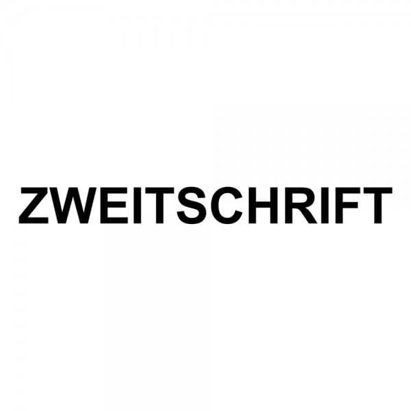 Holzstempel ZWEITSCHRIFT (50x10 mm - 1 Zeile)