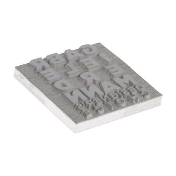 Textplatte für Trodat Mobile Printy 9425-1 (25x25 mm - 6 Zeilen)