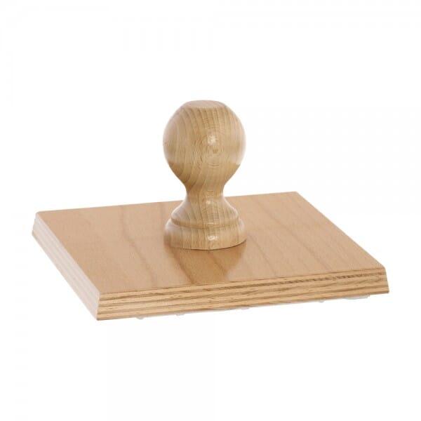 Holzstempel (170x170 mm - 34 Zeilen)