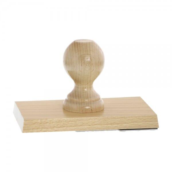 Holzstempel (160x90 mm - 18 Zeilen)