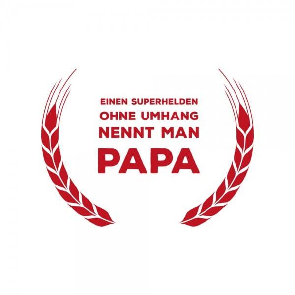 Vatertag Holzstempel - Superheld Papa (Ø 40 mm)