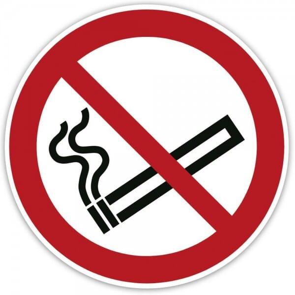 Standard Sticker Ø 100 mm 2 Stück / Rauchen verboten! bei Stempel-Fabrik
